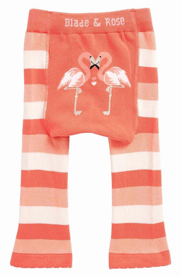 Meia Calça Legging Infantil Flamingo - Blade and Rose