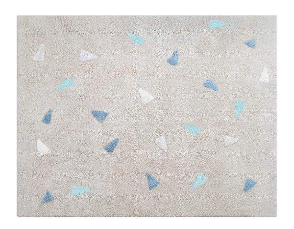 Tapete Confetti Bege Tricolor Azul - Nina & Co.