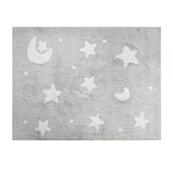 Tapete Infantil Sky Cinza Estrela Branca - Nina & Co.