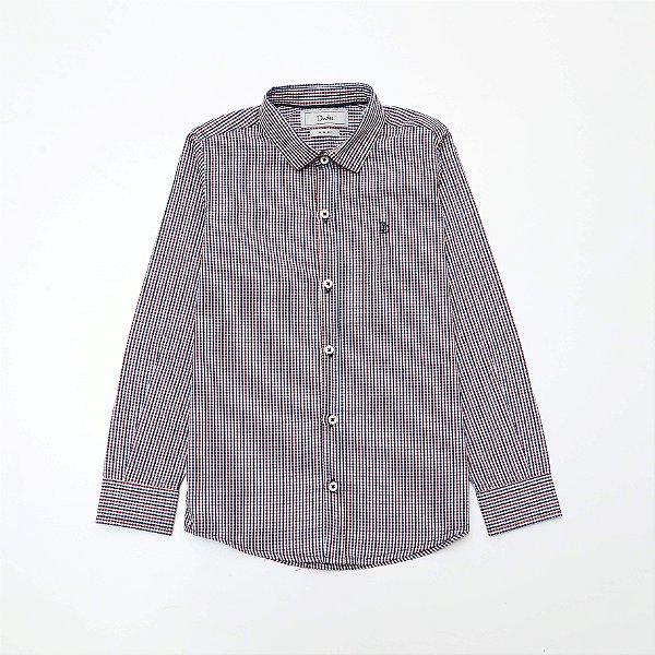 Camisa Tricoline Kids Xadrez - Dudes