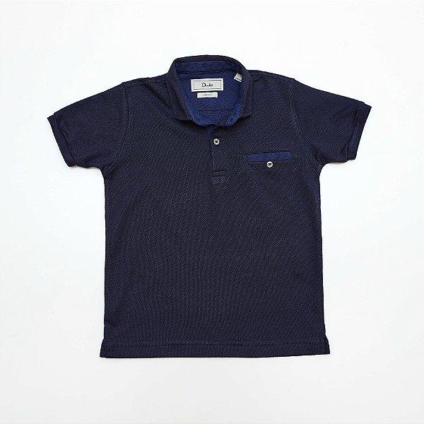 Camisa Polo Kids Azul Mescla - Dudes