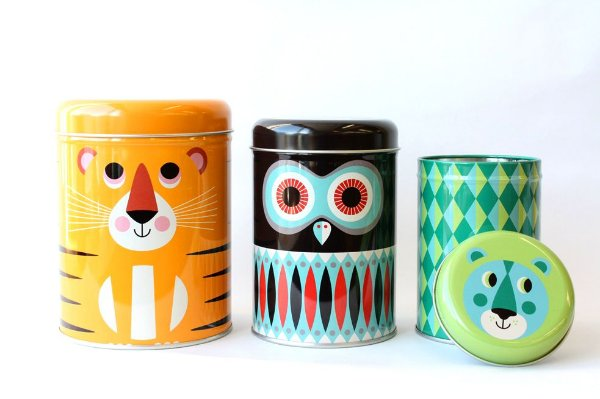 Set 3 Latas Animais - OMM Design