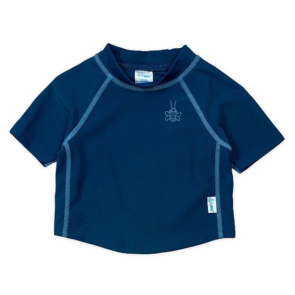 Camiseta Infantil Manga Curta com Proteção Solar Azul Marinho FPS 50+ - IPlay