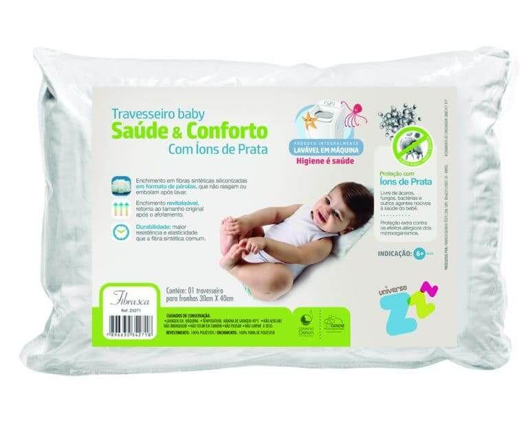 Travesseiro Baby com Íons de Prata - Fibrasca