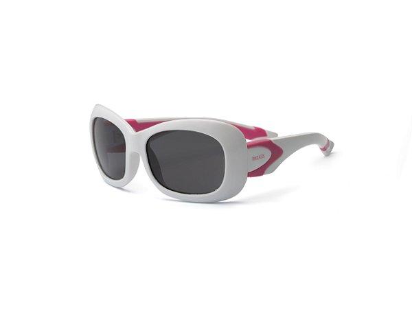 Óculos de Sol Breeze Branco e Rosa - Real Shades
