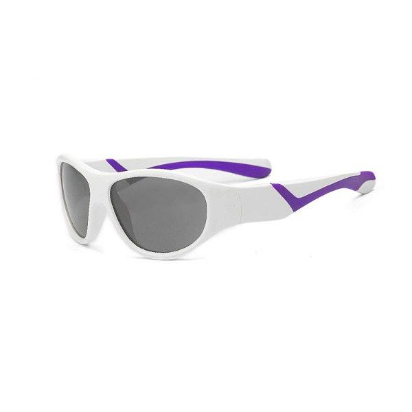 Óculos de Sol Discover Branco e Roxo - Real Shades