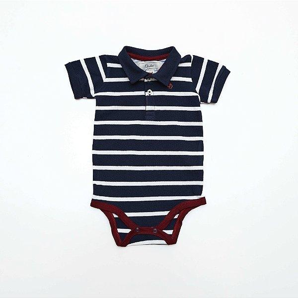 Body Polo Baby Azul Listrado - Dudes