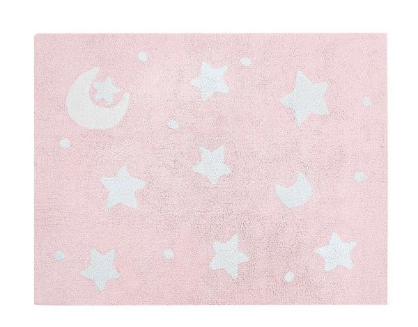 Tapete Infantil Sky Rosa/Branco - Nina & Co.
