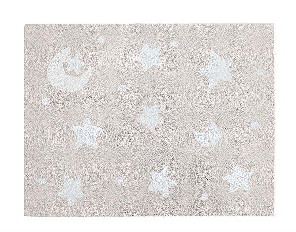 Tapete Infantil Sky Bege/Branco - Nina & Co.