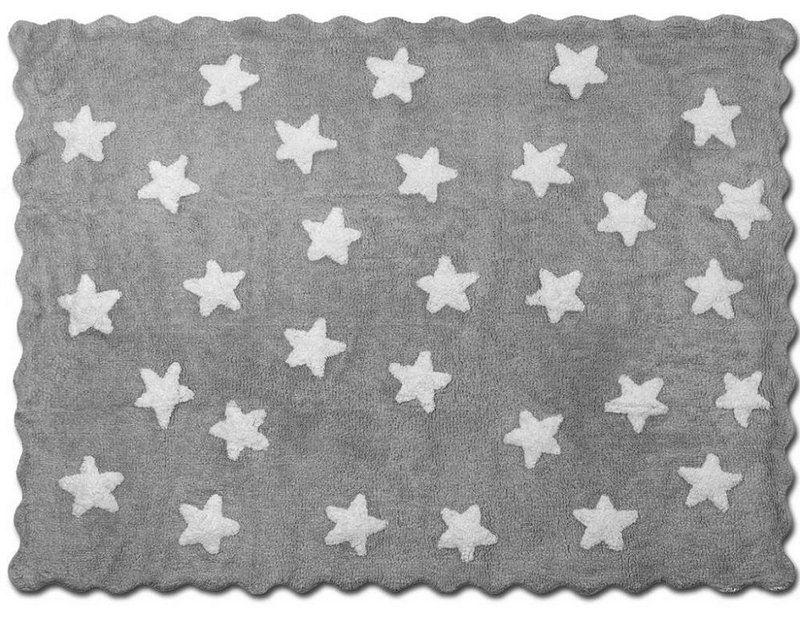 Tapete Infantil Mini Star Cinza - Nina & Co.