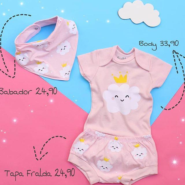 Body nuvens coroa para bebê
