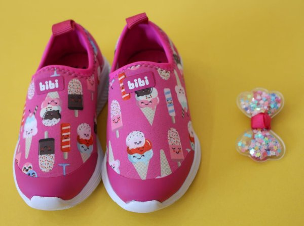 Tênis fly baby estampado/pink new