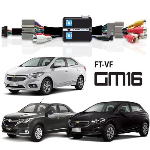 Interface Desbloqueio De Tela GM MyLink 2 Cruze LT / Cobalt / Onix / Prisma / S-10 / Sonic / Spin / Tracker Faaftech FT-VF-GM16