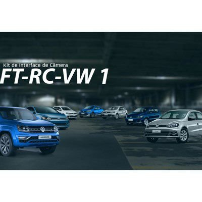 Camera de Ré na Tela Original VW - Amarok 2017 - Crossfox 2016, 2018 - Fox 2016, 2018 - Gol 2016, 2018 - Jetta 2016, 2018 - Polo 2018 - Saveiro 2016, 2018- Spacefox 2016, 2018 - Tiguan 2018 - Virtus 2018 -  Voyage 2016, 2018 Inter Face FaafTech FT-RC-VW