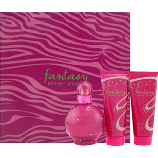 Kit Britney Spears Fantasy - Perfume 100ml + Shower Gel + Body Lotion