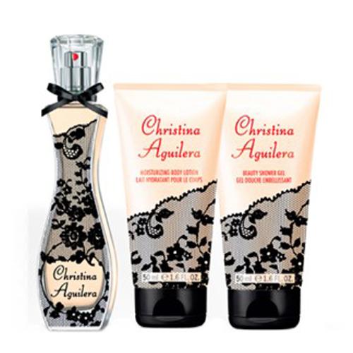 Kit Christina Aguilera - Perfume 30ml + Gel de Banho 50ml + Body Lotion 50ml
