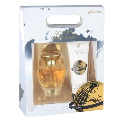 Kit Ómerta Golden Challenge Feminino - Perfume 100ml + Shower Gel