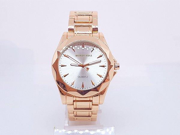 Relógio Feminino Rose Michael Kors Fundo Branco Delicado - Vl Click ... 35febce57b