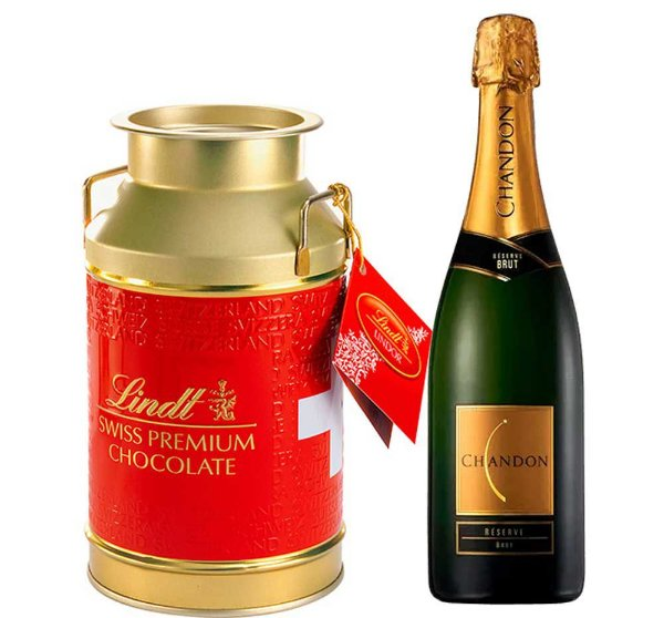 Combo Chandon 750ml + Chocolate Suíço Lindor Milk