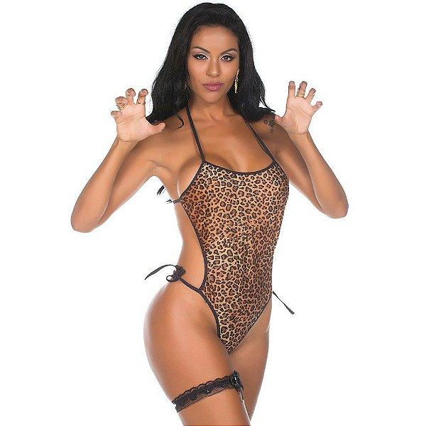 Body Feminino Onça - Com Persex - Tamanho Único