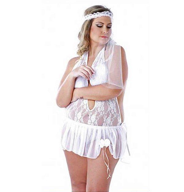 Noiva com Véu Tamanho Plus Size - Coleção Desejos