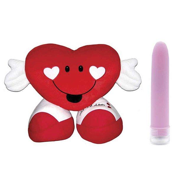 Coração Compartimento Secreto - Acompanha Vibrador