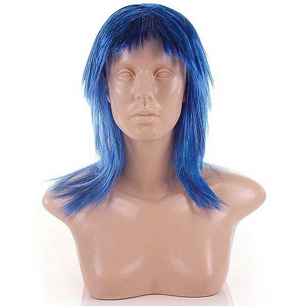 Acessório Para Fantasia - Peruca Curta - Cor Azul