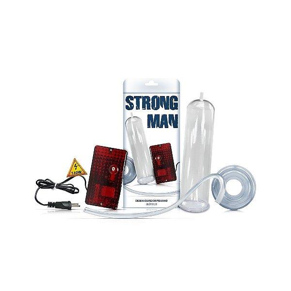 Bomba Peniana Elétrica - Strong Man - Reforçada - 110V - Leve Grátis 1 Big Boy