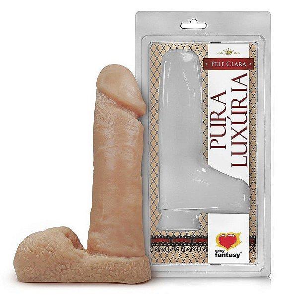Pênis com Saco Escrotal - 17 x 4,5 cm - Pura Luxúria