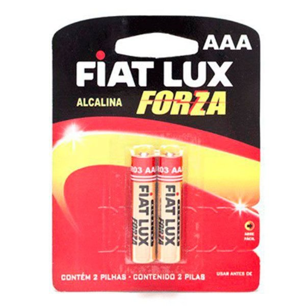 Pilha AAA Alcalina - Embalagem com 02 Unidades - Fiat Lux