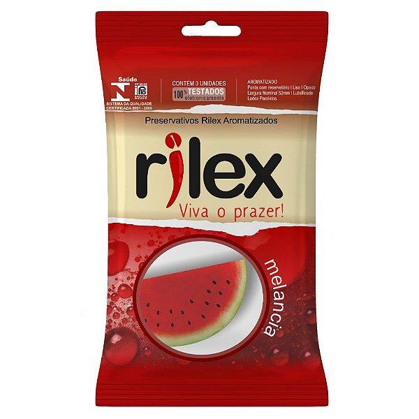Preservativo Rilex - Aroma de Melancia - 3 Unidades