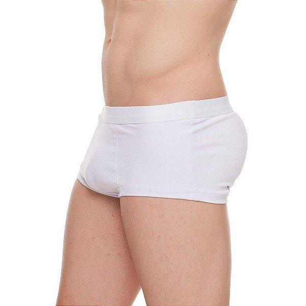 Cueca Mini Boxer com Enchimento Traseiro Branca Tam. P