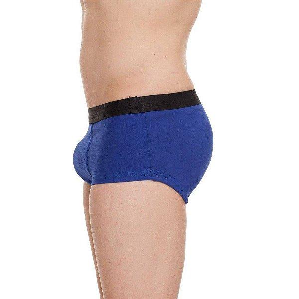 Cueca Mini Boxer com Enchimento Frontal Azul Tam. M