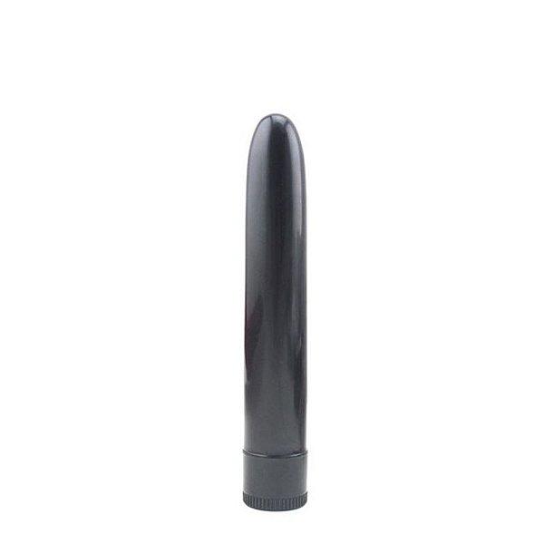 Vibrador Personal Clássico Multivelocidade Preto 18cm
