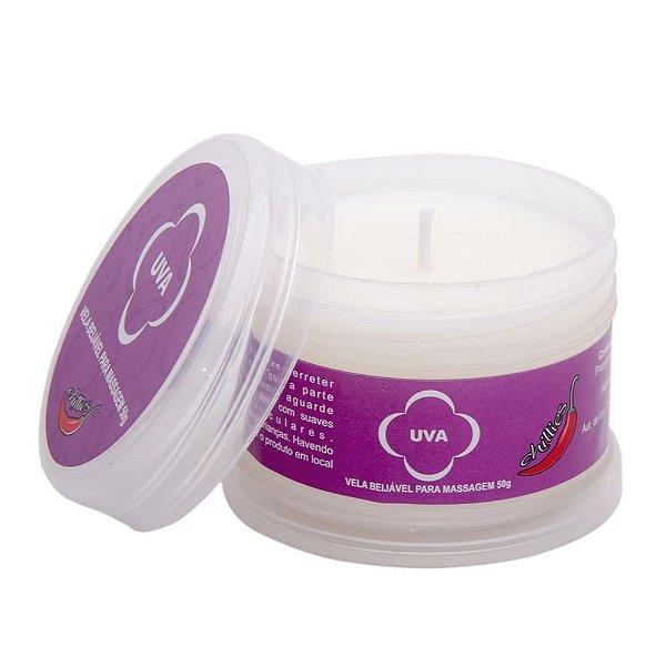 Vela Beijável para Fazer Massagem - Aroma Uva