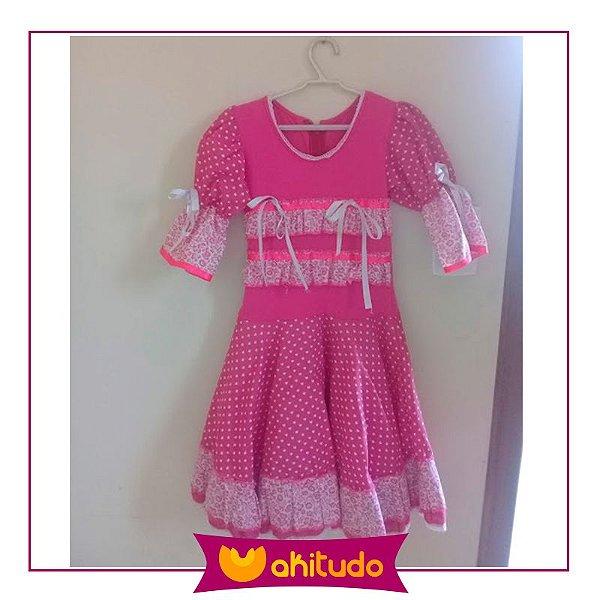 Vestido de Festa Caipira - Rosa
