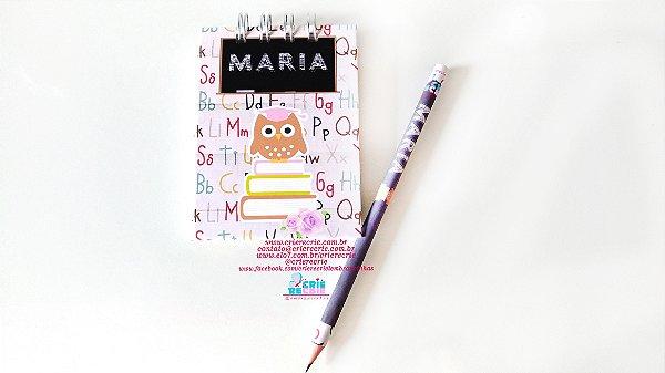 Bloco Lembrança com Lápis Personalizado