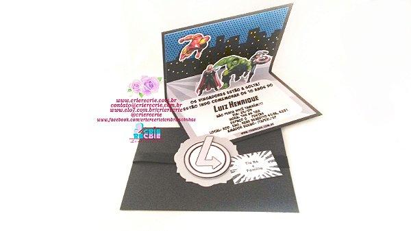 Convite Pop Up - 05 Peças