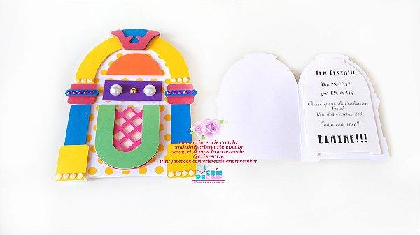 Convite em Scrap - Jukebox