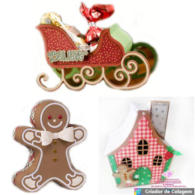 Kit Decorativo Natal 02 - 03 Peças
