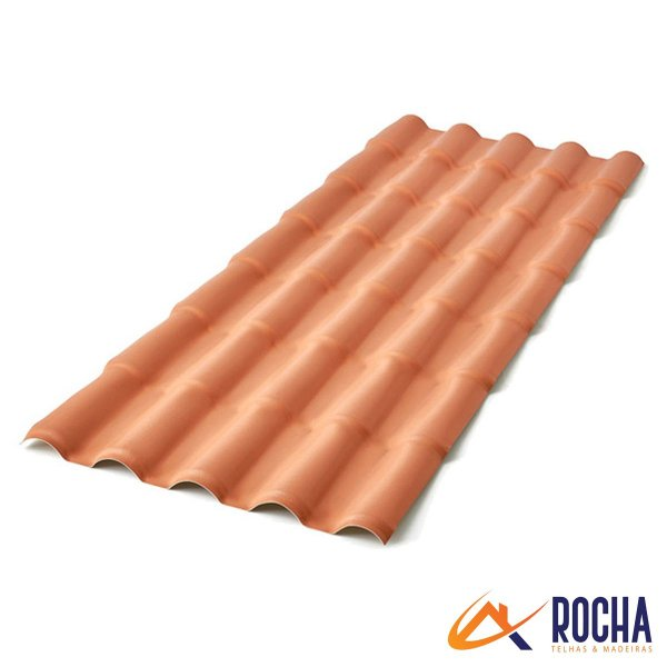 Telha Colonial PVC 394 cm x 88 cm - Cerâmica