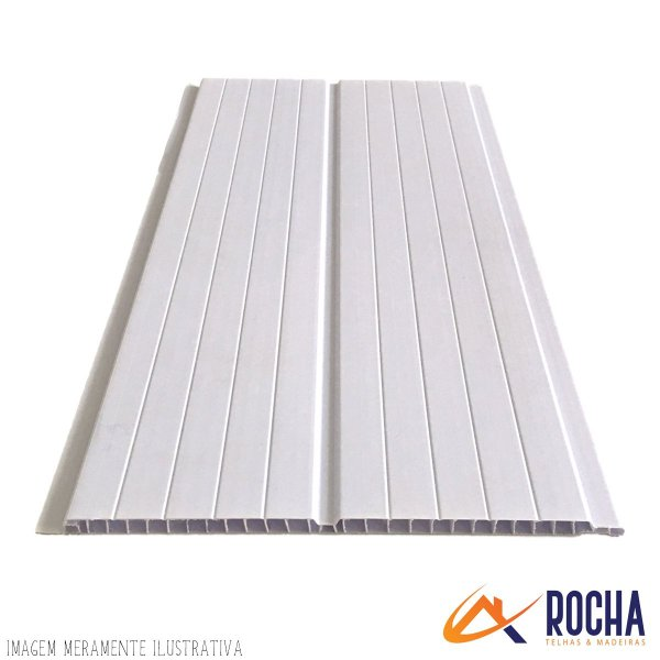 Forro de PVC Gemini  - Branco 20 cm x  8 mm