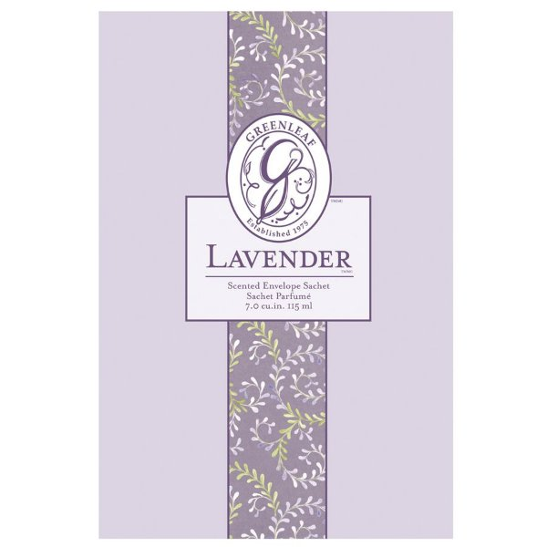 Sachê Perfumado Greenleaf Lavender no Atacado - Large (Grande) - CAIXA COM 18 UNIDADES