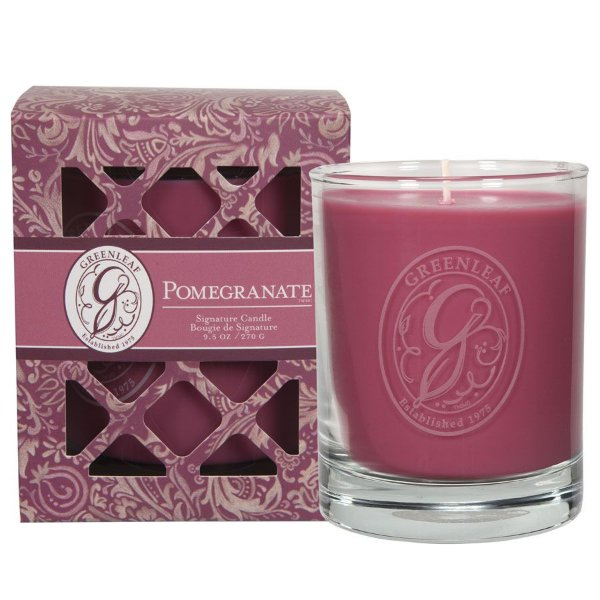 Vela Signature no atacado Greenleaf  Pomegranate
