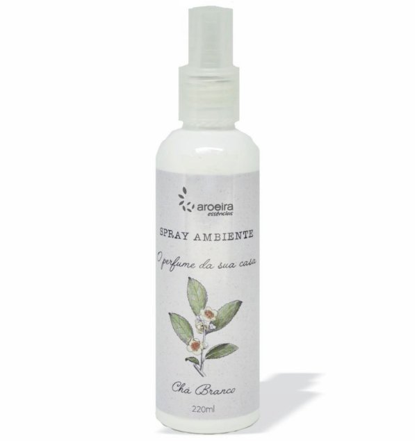 Spray Ambiente Aroeira Essencias 220ml - Spray - Chá Branco