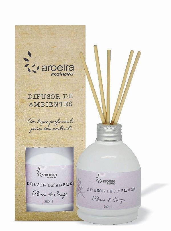 Difusor Perfumado de Ambientes Aroeira Essencias 280ml - Varetas - Flores do Campo