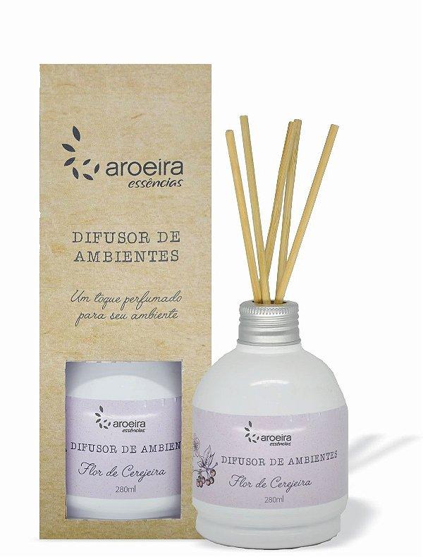 Difusor Perfumado de Ambientes Aroeira Essencias 280ml - Varetas - Flor de Cerejeira