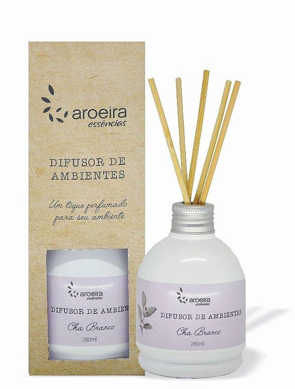 Difusor Perfumado de Ambientes Aroeira Essencias 280ml - Varetas - Chá Branco