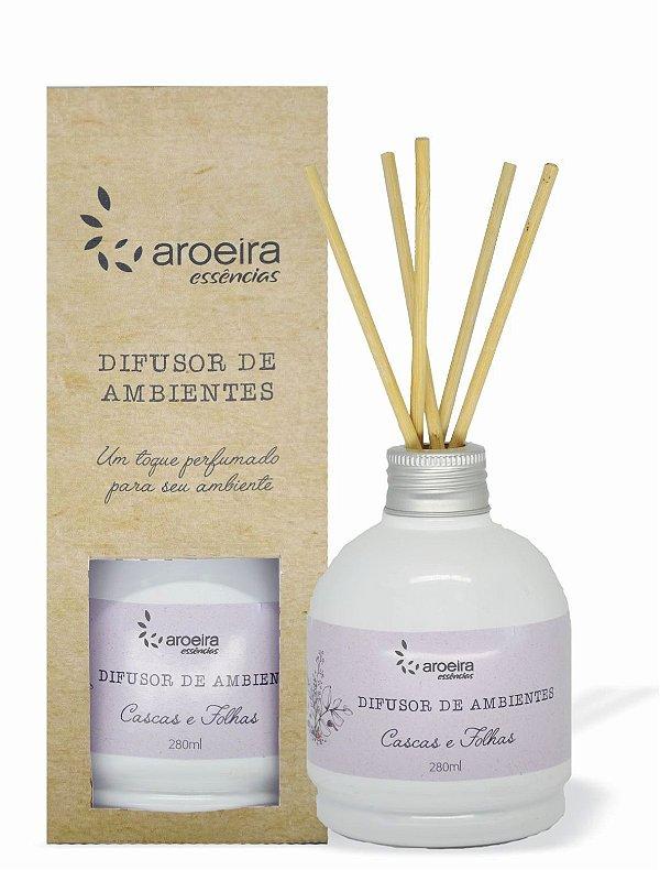 Difusor Perfumado de Ambientes Aroeira Essencias 280ml - Varetas - Cascas e Folhas