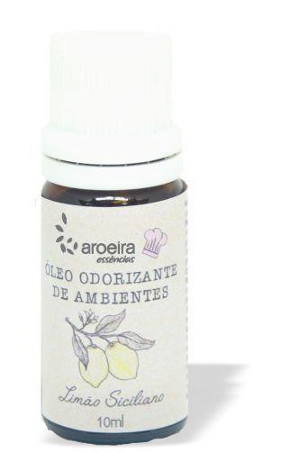 Óleo Perfumado Gourmet Aroeira Essencias 10ml - Gotejador - Limão Siciliano
